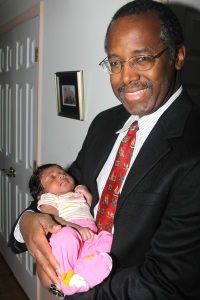 Dr. Ben Carson with his grand-daughter